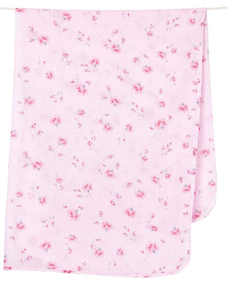 Muslin Wrap in Pink Rosetta by Toshi