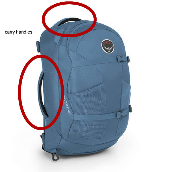 Travel Backpack Carry Handles
