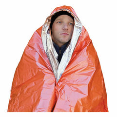 AMK SOL 1 Person Emergency Blanket in use