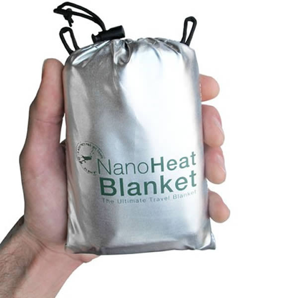 AMK SOL Nano Heat Blanket in palm of hand