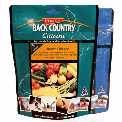 Back Country Cuisine Roast Chicken Freeze Dried Meal - Five Serve