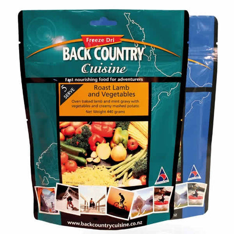 Back Country Cuisine Roast Lamb and Vegetables Freeze Dried Meal - 5 Serve