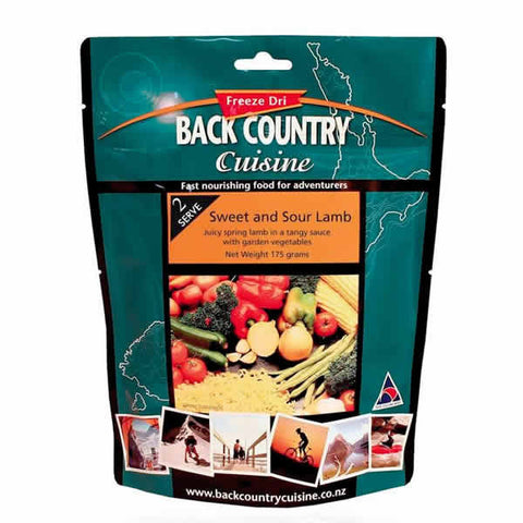 Back Country Cuisine Sweet and Sour Lamb Freeze Dried Meal - Double Serve