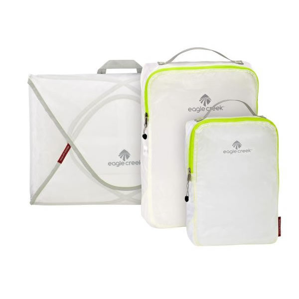 Eagle Creek Pack-It Specter Starter Set - shirt folders and packing cubes white strobe green