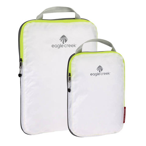 Eagle Creek Pack-It Specter Compression Cube Set - 2 packing cubes white strobe green