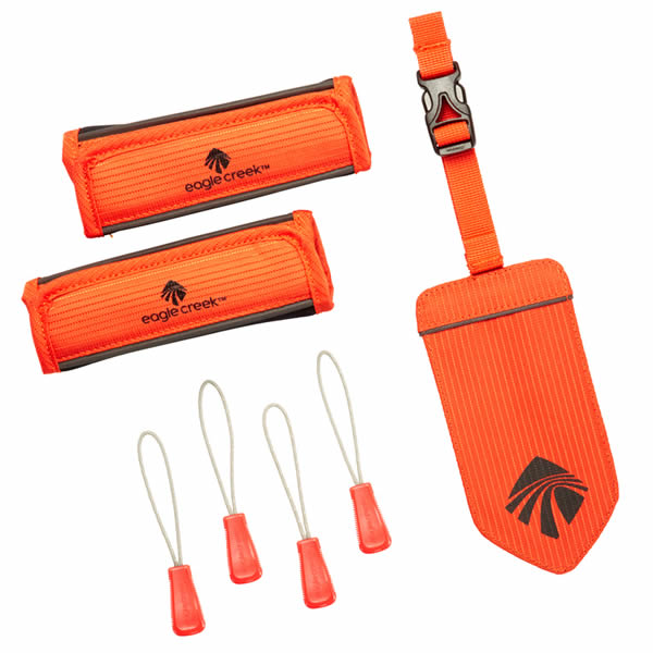 Eagle Creek Reflective ID Luggage Tag Set Flame Orange