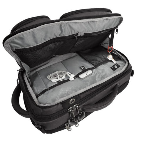 Eagle Creek Convertabrief 26.5 Litre Carry-On Laptop Messenger Bag Asphalt Black internal pockets