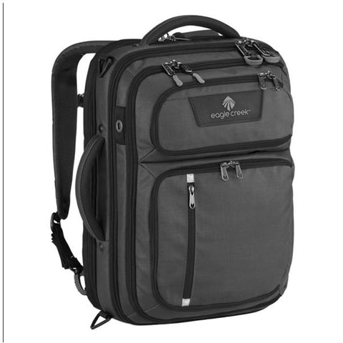 Eagle Creek Convertabrief 26.5 Litre Carry-On Laptop Messenger Bag Asphalt Black on end