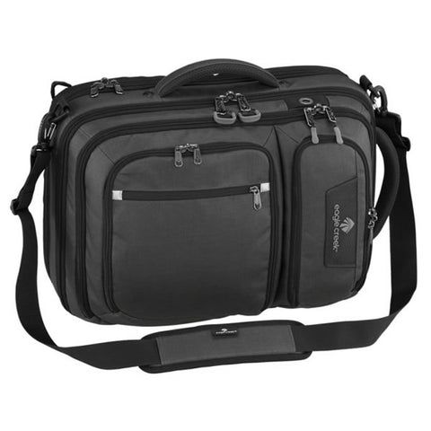 Eagle Creek Convertabrief 26.5 Litre Carry-On Laptop Messenger Bag Asphalt Black
