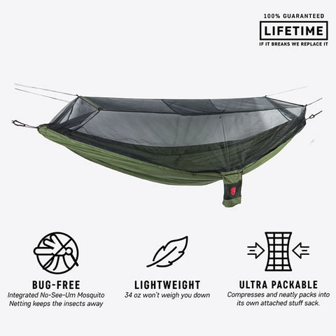 Grand Trunk Skeeter Beeter XT Bug Free Hammock Olive features