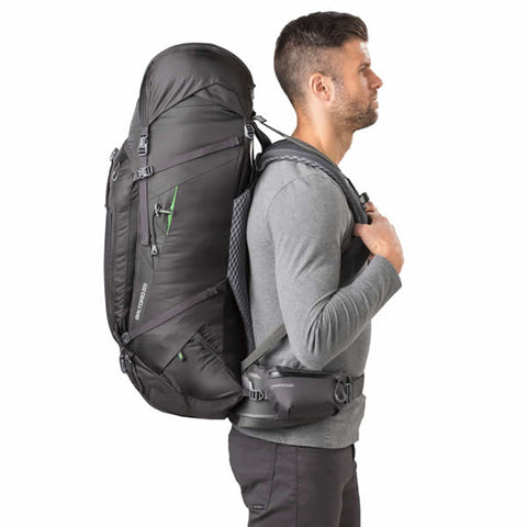 Gregory Baltoro 65 Litre Hiking Backpack Onyx Black in use