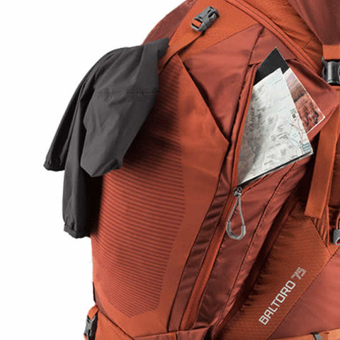 Gregory Baltoro 75 Litre Hiking Backpack external pockets
