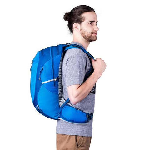 Gregory Miwok Men's 24 Litre Hiking Daypack in use on back