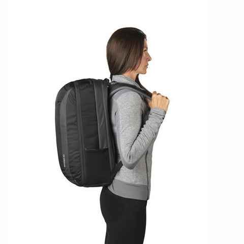 Gregory Border 35 Litre Carry On Backpack with Laptop and Tablet Sleeve in use side view