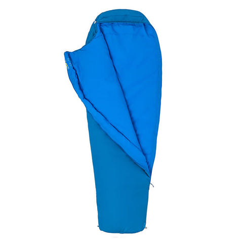 Marmot Nanowave 25 Synthetic Sleeping Bag Classic Blue zipped open