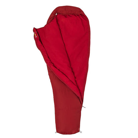 Marmot Nanowave 45 Long Brick Red unzipped
