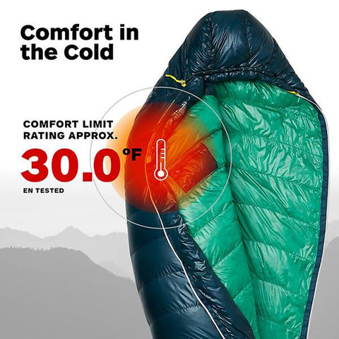Marmot Phase 30 Ultralight Down Sleeping Bag 850 Loft EN tested