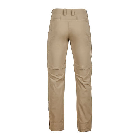 Marmot Men's Transcend Convertible Travel and Hike Pants rear View desert khaki