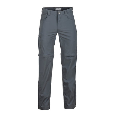 Marmot Men's Transcend Convertible Travel and Hike Pants Front View Slate Grey