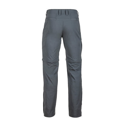 Marmot Men's Transcend Convertible Travel and Hike Pants rear View Slate Grey