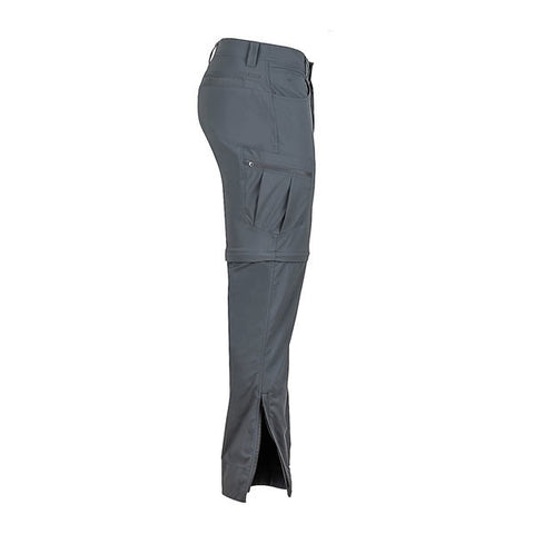 Marmot Men's Transcend Convertible Travel and Hike Pants side View Slate Grey