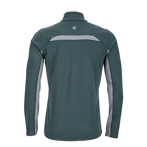 Marmot Mens Excel 1/2 Zip Midweight Active Top Dark Zinc/Grey Storm Rear view