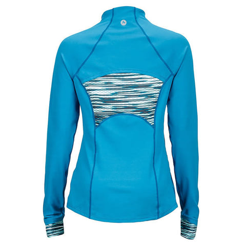 Marmot Women's Excel 1/2 Zip Long Sleeve Top slate blue celtic sprint