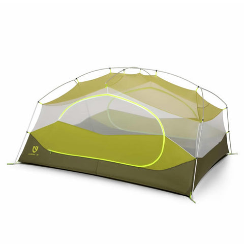 Nemo Aurora 3 Person Hiking Tent with Footprint Nova Green inner