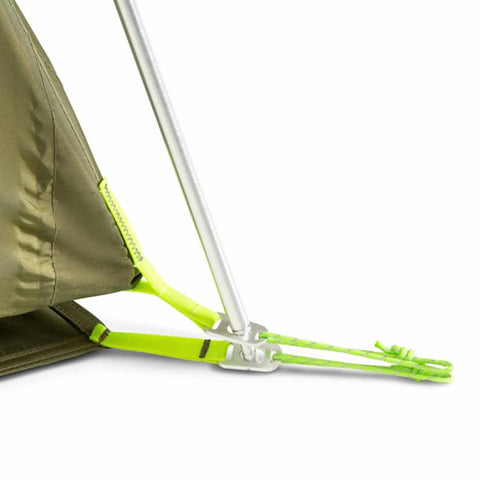 Nemo Aurora 3 Person Hiking Tent with Footprint Nova Green pole feet
