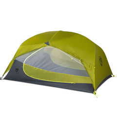Nemo Dragonfly 3 Person Hiking Backpacking Tent with vestibule rolled up
