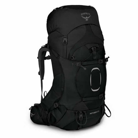 Osprey Aether 65 Litre Men's Hiking Mountaineering Backpack Black
