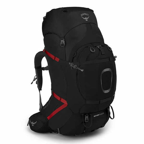 Osprey Aether Plus Men's Hiking Mountaineering Backpack Black