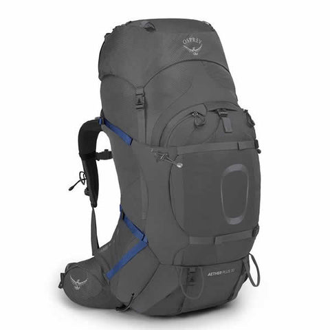 Osprey Aether Plus 70 Men's Hiking Mountaineering Backpack eclipse grey