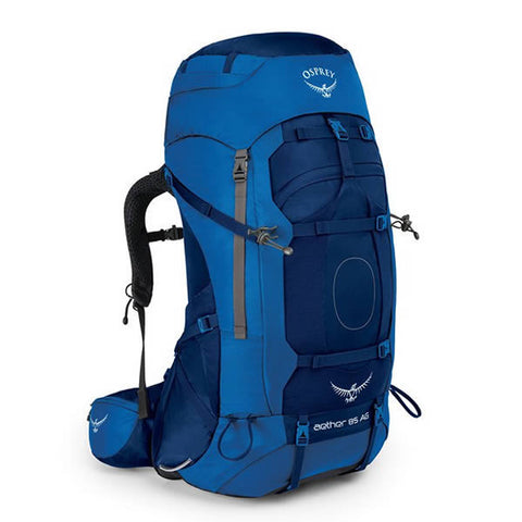 Osprey Aether AG Men's 85 Litre Hiking / Mountaineering Backpack with Raincover neptune blue