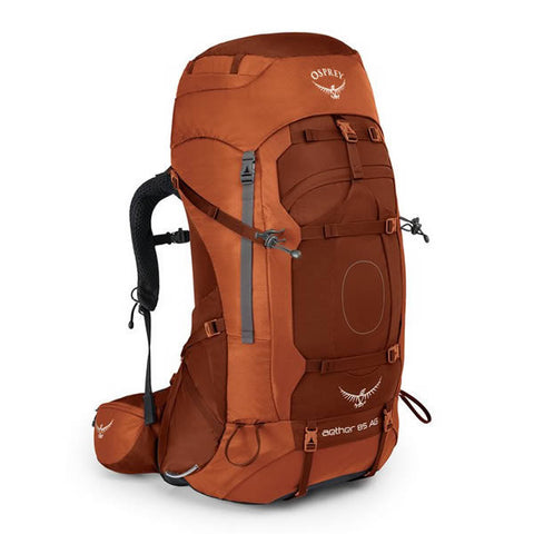 Osprey Aether AG Men's 85 Litre Hiking / Mountaineering Backpack with Raincover outback orange