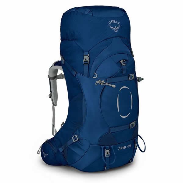 Osprey Ariel 65 Litre Women's Hiking Mountaineering Backpack Ceramic Blue
