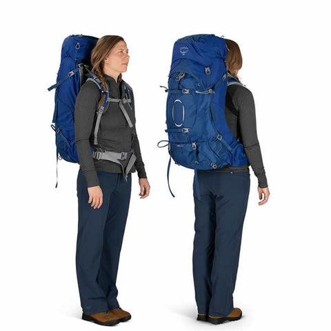 Osprey Ariel 65 Litre Women's Hiking Mountaineering Backpack in use