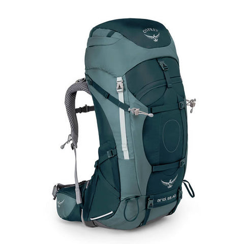Osprey Ariel AG 65 Litre Backpack with free hydration reservoir and Transit Cover