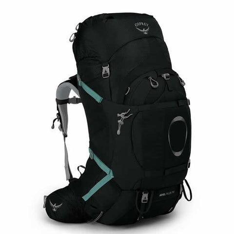 Osprey Ariel Plus 70 Litre Women's Hiking Mountaineering Backpack Black