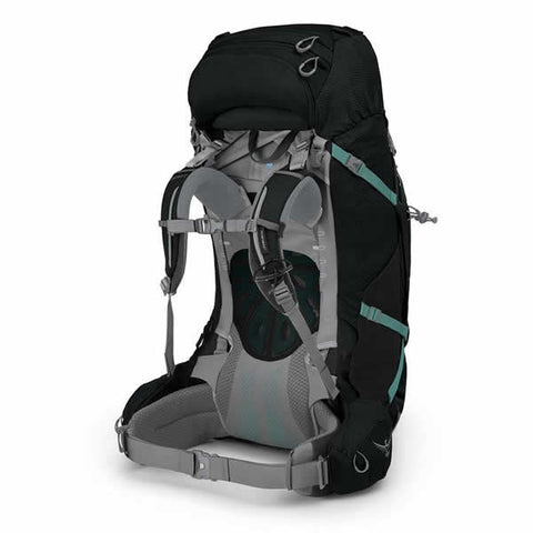 Osprey Ariel Plus 70 Litre Women's Hiking Mountaineering Backpack Black harness