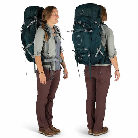 Osprey Ariel Plus 70 Litre Women's Hiking Mountaineering Backpack in use
