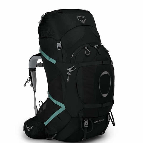 Osprey Ariel Plus 85 Litre Women's Hiking Expedition Mountaineering Backpack Black