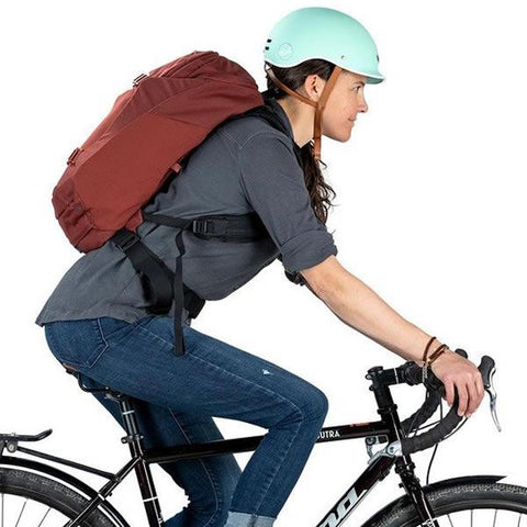 Osprey Metron 26 Litre Cycling Commute Daypack in use