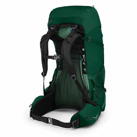 Osprey Rook 60 Litre Men's Hiking Backpack Mallard Green harness