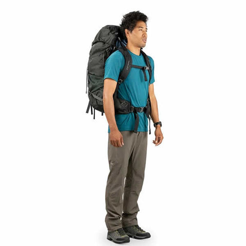 Osprey Rook 65 Litre Men's Hiking Backpack in use side view