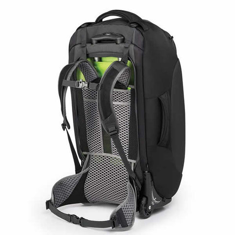 Osprey Sojourn 80 Litre Wheeled Travel Backpack Flash Black carry harness