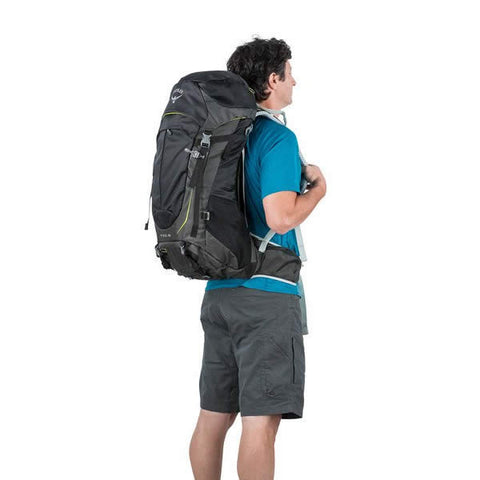 Osprey Stratos 36 Litre Men's Daypack in use rear view