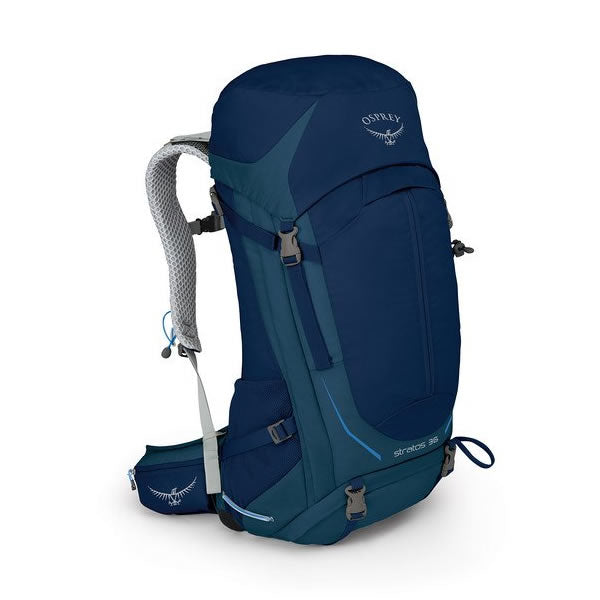 Osprey Stratos 36 Litre Men's Hiking Backpack Eclipse Blue