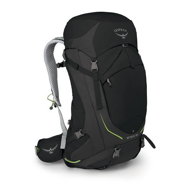 Osprey Stratos 50 Litre Men's Hiking Backpack black
