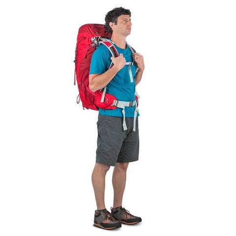 Osprey Stratos Men's Hiking Backpack Harness in use front view